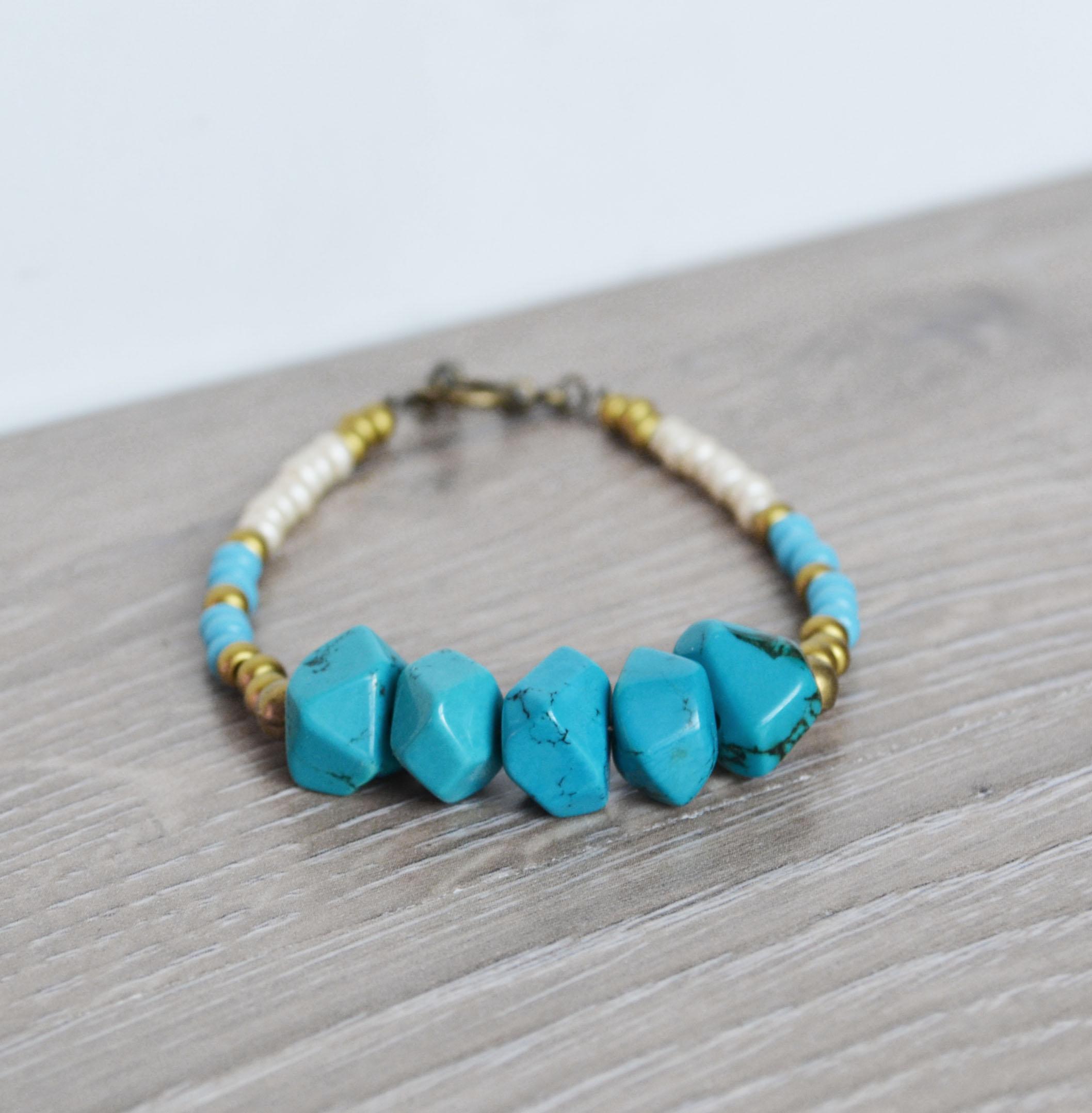 tribal bracelet turquoise beaded bracelet turquoise. Black Bedroom Furniture Sets. Home Design Ideas