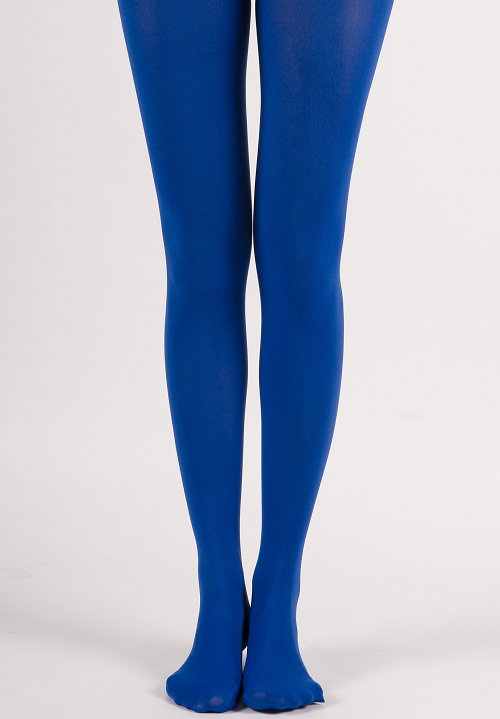 125557eb3c3 Extra Full-Coverage Solid Color Soft Opaque Tights - Rich Blue ...