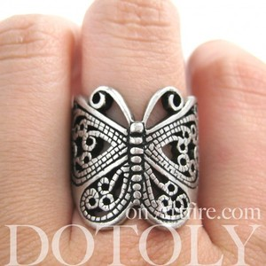 Butterfly Wrap Ring with Cut Out Details - Sizes 5 to 7 Available