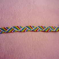 Rainbow Stripes Braided Friendship Bracelet