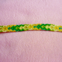 Green Arrows Braided Friendship Bracelet