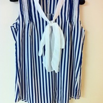 Sail Me Away Stripes Chiffon Tank