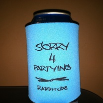 Sorry 4 Partying Koozie (Blue)
