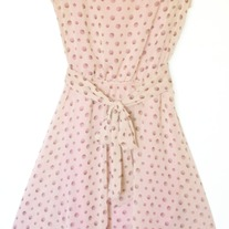 Salmon Polka Dot High-Low Dress
