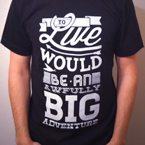 An Awfully Big Adventure Tee (Black)