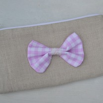 Linen & Bow Zippered Pouch
