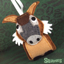 Felt Animal Ornament- Boris the Red River Hog