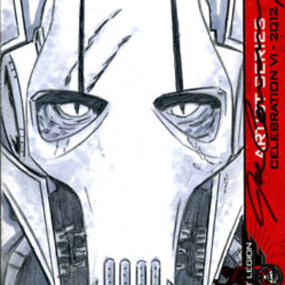 General grievous 501st legion star wars celebration vi artist sketch card