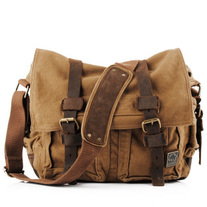 Vintage rugged canvas bags
