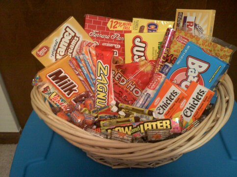 Connie S Creations Retro Candy Gift Basket Online