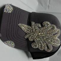 6030e45ab66c6 Envy Destructed Gray Fleur de Lis Rhinestone Bling Trucker Hat · Envy   39.99. 0. Envy This Collect