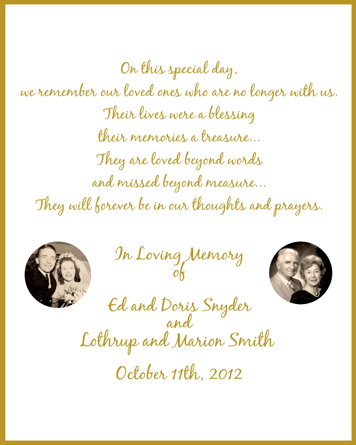 Memorial Poems For Loved Ones 5