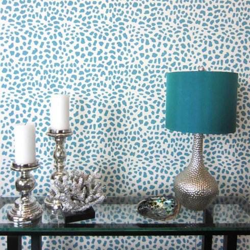Leopard Skin Allover Stencil Small Scale Reusable Wall