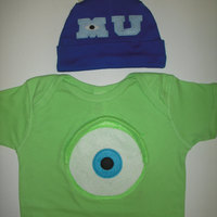 MIKE WAZOWSKI - Onesie   Hat Set - Inspired by Monsters University -  Thumbnail ... 4f5396417d14