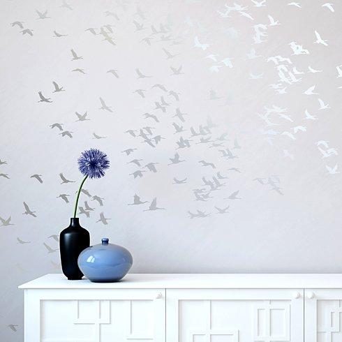 Flock Of Cranes Wall Art Stencil Reusable Wall Stencils