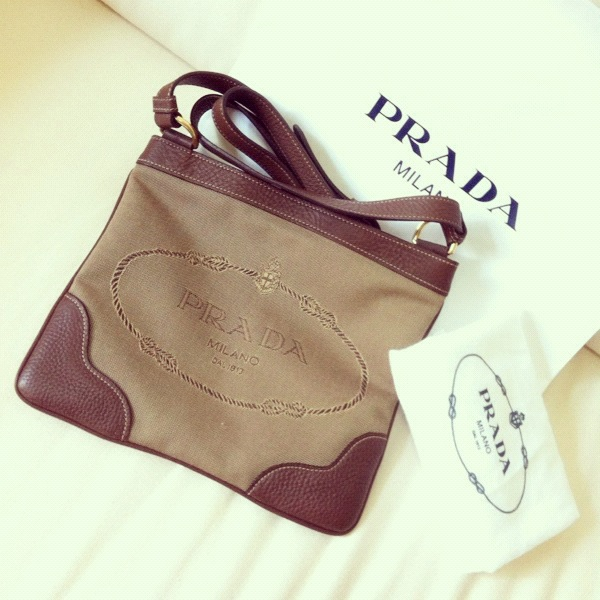 ad5bd80c14f3 PRADA Logo Jacquard Messenger Bag on Storenvy