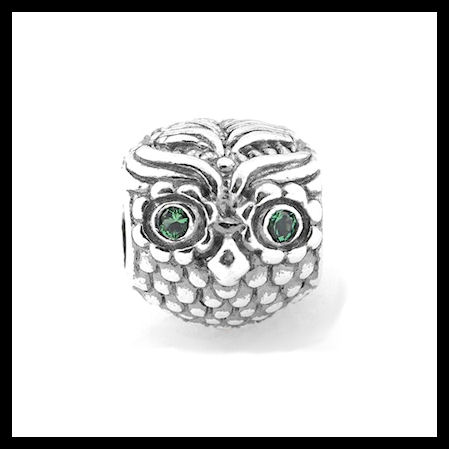 """852811adc AUTHENTIC PANDORA """"Wise Owl"""" .925 Sterling Silver CZ European  Charm Bead -"""