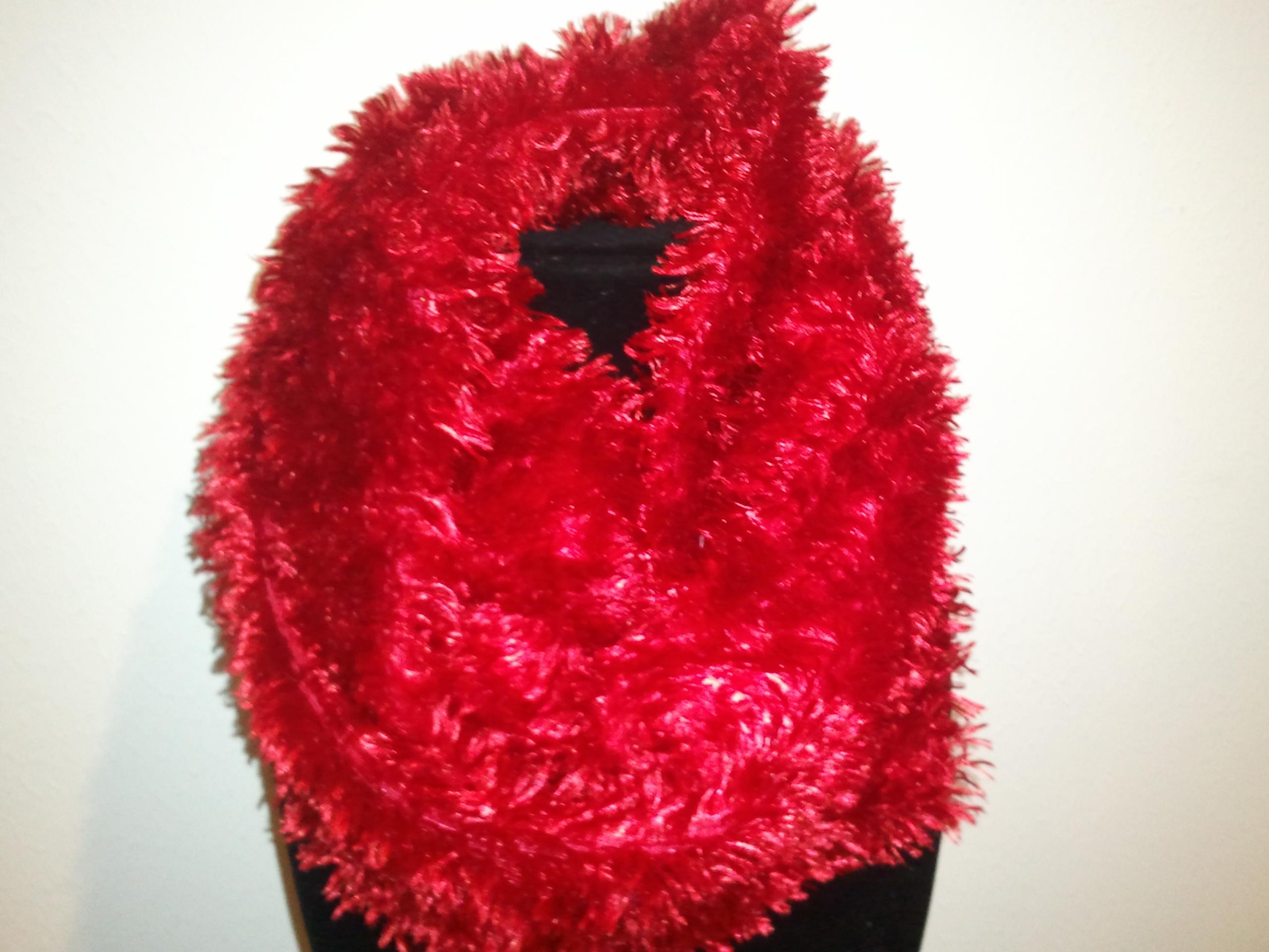 20f1e258d84 Red Faux Fur Infinity Scarf · Bella-Mia Designs · Online Store ...