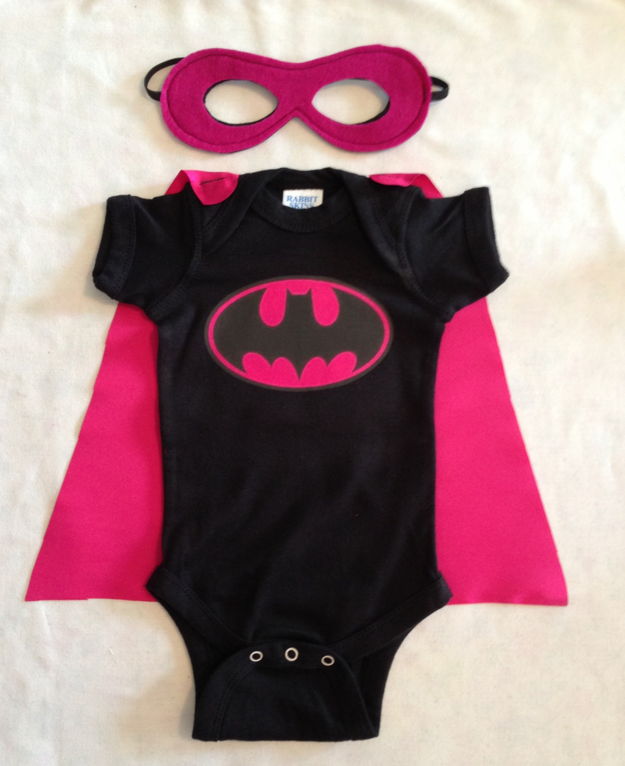 Il fullxfull.484866479 5bj8 original & Batgirl Superhero Baby Outfit with Detachable Satin Cape and ...