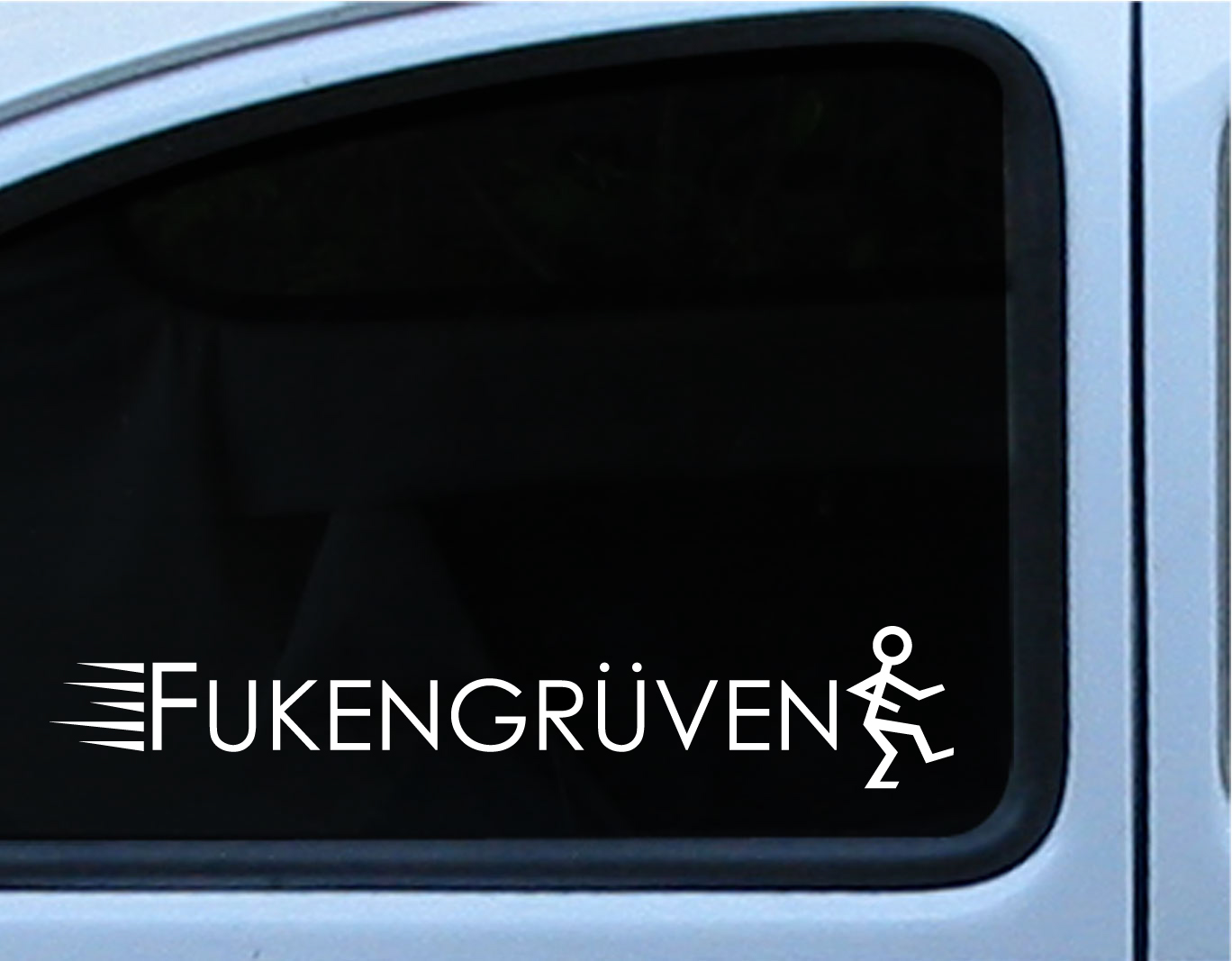 Volkswagen vw fukengruven logo die cut vinyl decal sticker 3x17 in multiple of different colors on storenvy