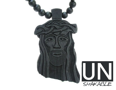Wooden Jesus Piece Black