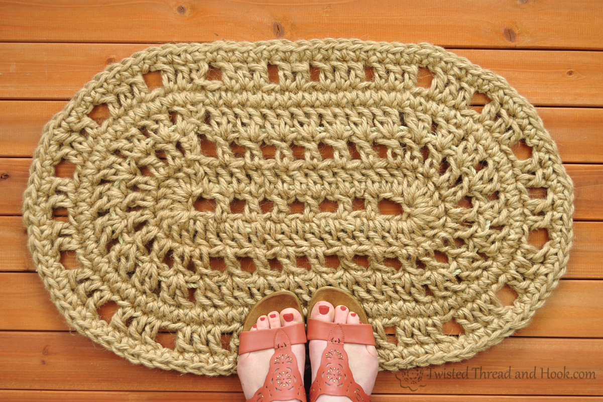 Oval Door Mat - Rope Mat - Crochet - Handmade To Order ...