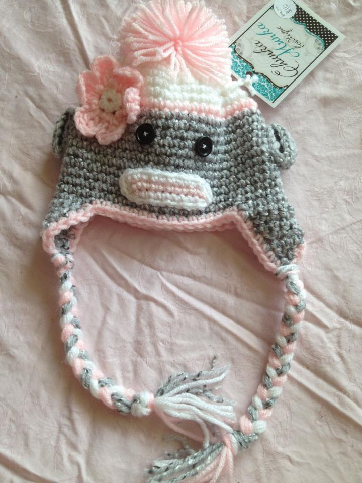 Sock monkey crochet hat c6b9eddd18a9