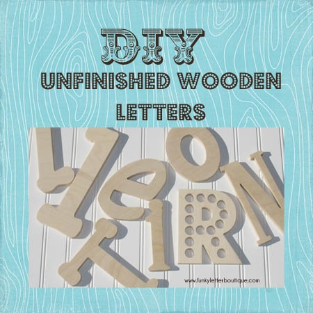 7 Inch Unfinished Wooden Wall Letters Diy