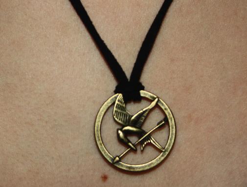 Hunger games inspired mockingjay necklace on storenvy hunger games inspired mockingjay necklace aloadofball Images
