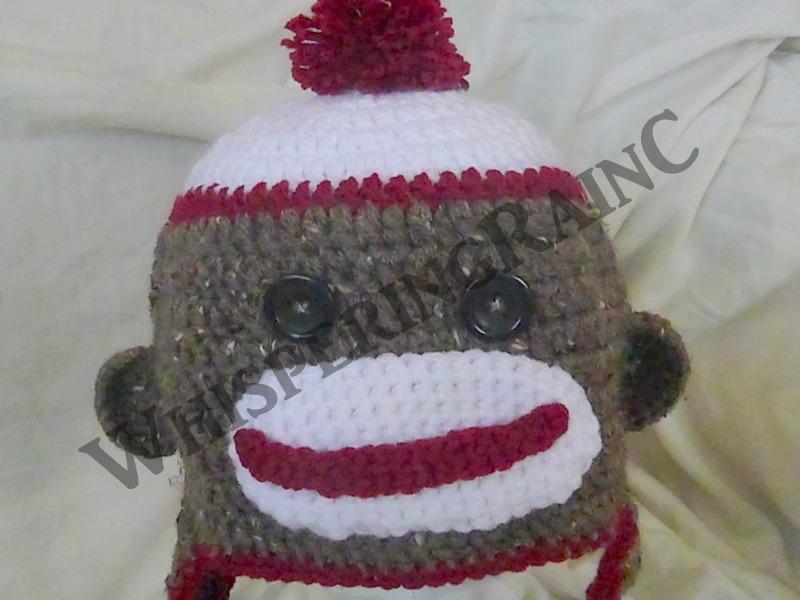 Adult Crochet Sock Monkey Hat On Storenvy
