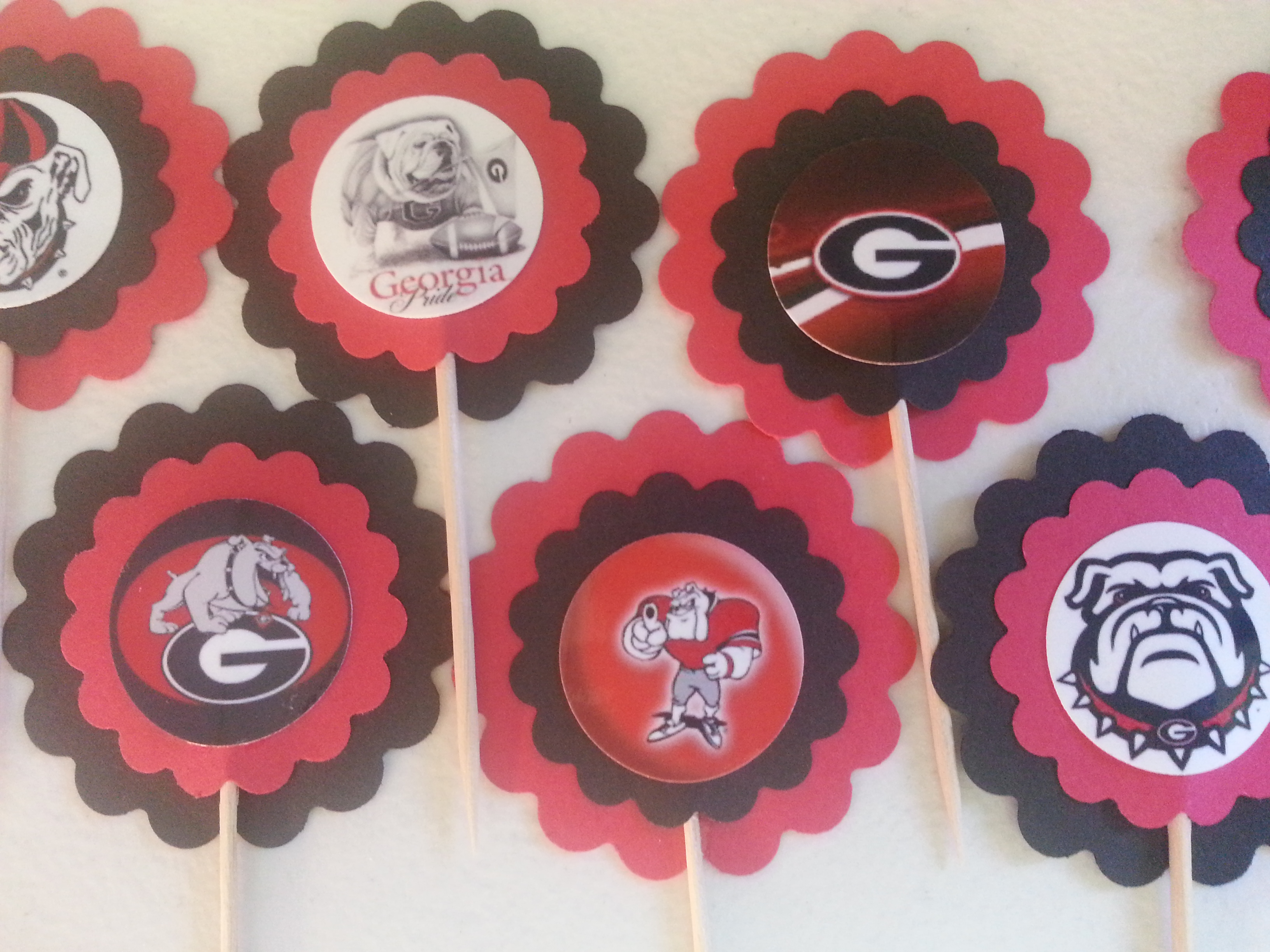 georgia bulldog cupcakes georgia bulldogs cupcake toppers pick your team on storenvy 4944
