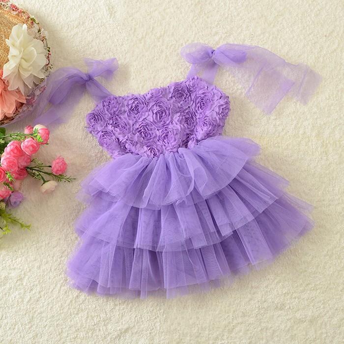 88d55143f4 Purple Rosette Tulle Dress · Ellie Baby Boutique · Online Store ...