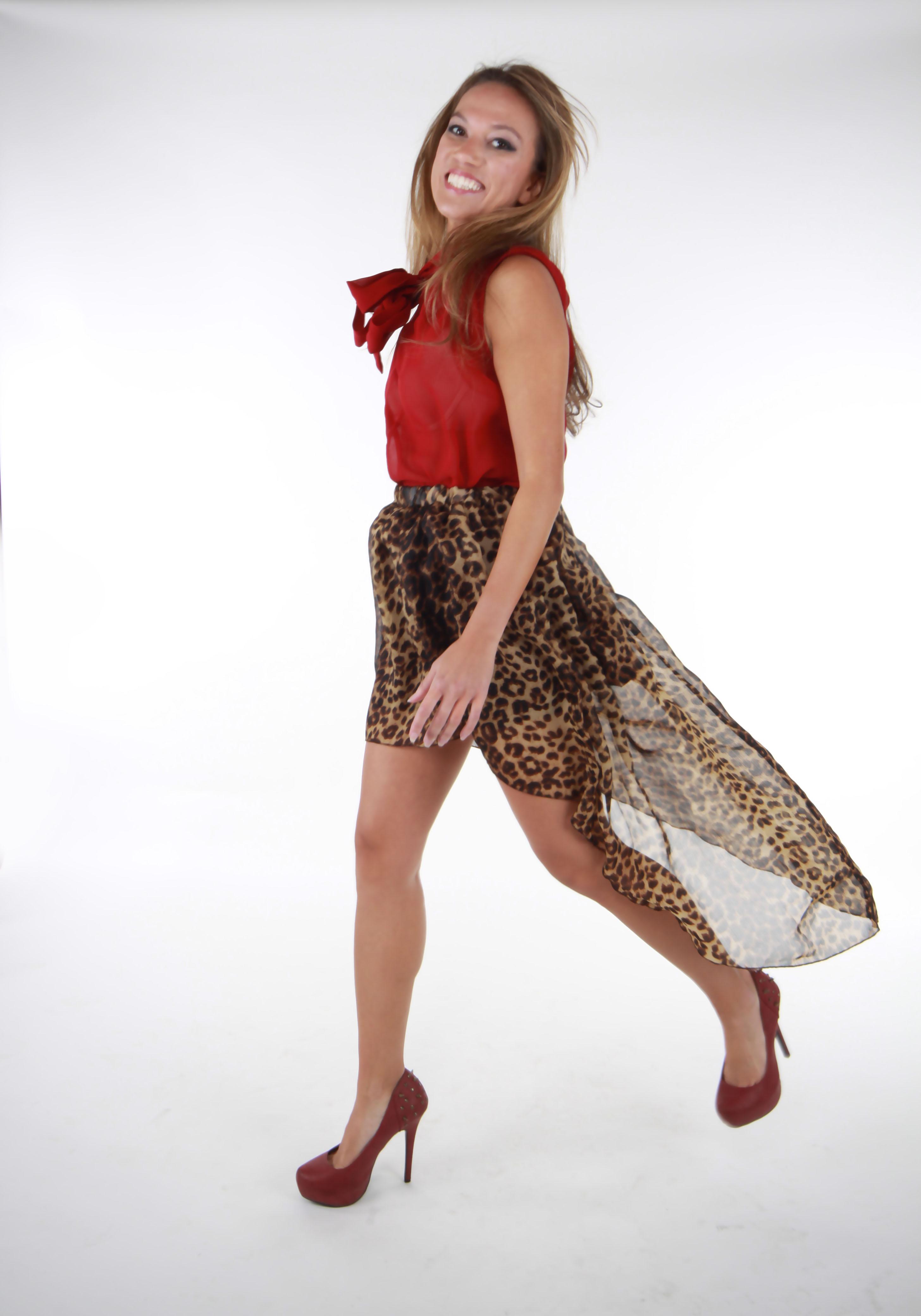 89573951b5f9 Leopard Print High-Low Maxi Skirt on Storenvy