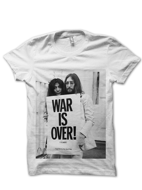 ee36c0a4f JOHN & YOKO WAR IS OVER T-SHIRT JOHN LENNON T-SHIRT THE BEATLES ...