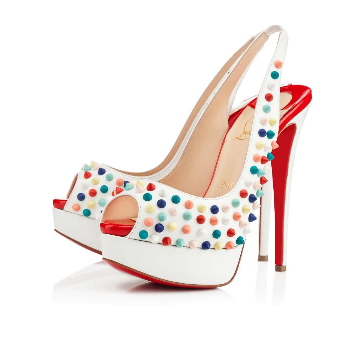 new product ecb8e 9ffa1 CHRISTIAN LOUBOUTIN LADY PEEP SLING SPIKES sold by Samore Fly Wear
