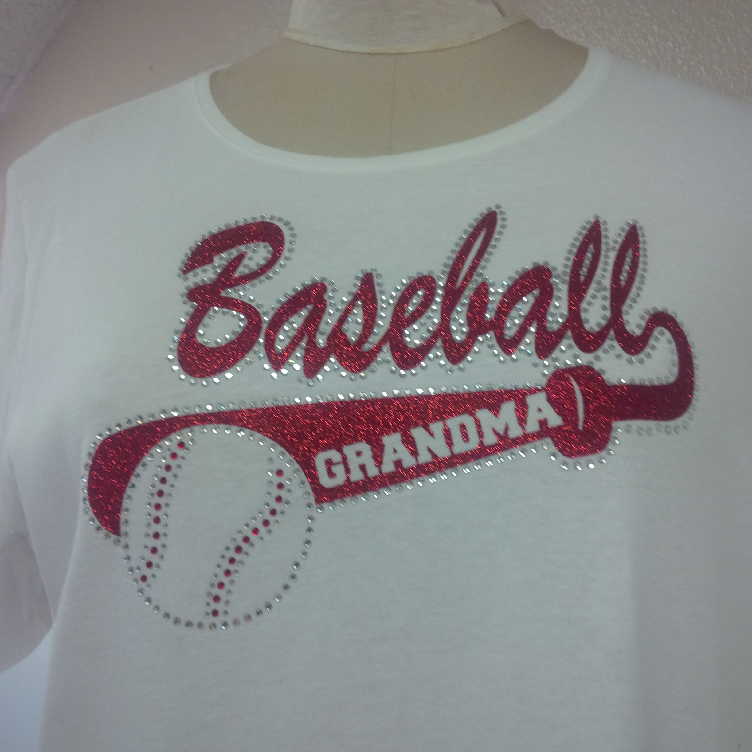 740bab7d6 Baseball Grandma Glitter and Stones Shirt · One Stop T-Shirts and ...