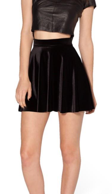 2058fba897 Black Velvet Skater Skirt · Hipster Penguin · Online Store Powered ...