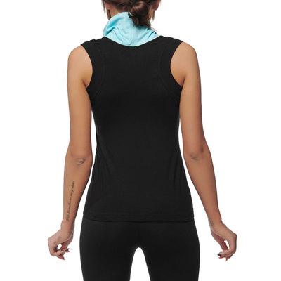 624b4ebe0ab59e Black cowl neck tank top - yoga tank top - racerback yoga top - turquoise  cowl