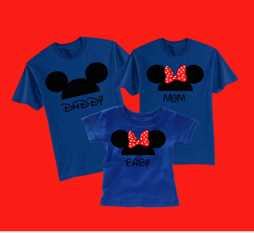 e7a1bdebd Minnie mouse and mickey mouse pocket mickey disney birthday family custom t shirt  personalized applique head