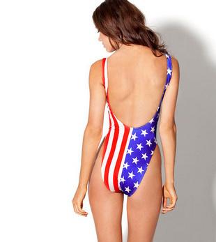 Backless One Piece Flag Swimsuit Bodysuit · Fashion Struck · Online ... 2e96ca864114