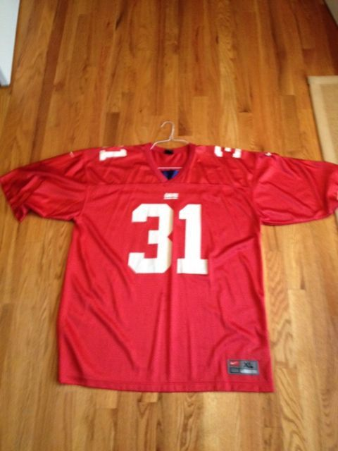 Authentic Nike NFL New YorK Giants Jersey Red - Jason Sehorn ... 9f31f97bb