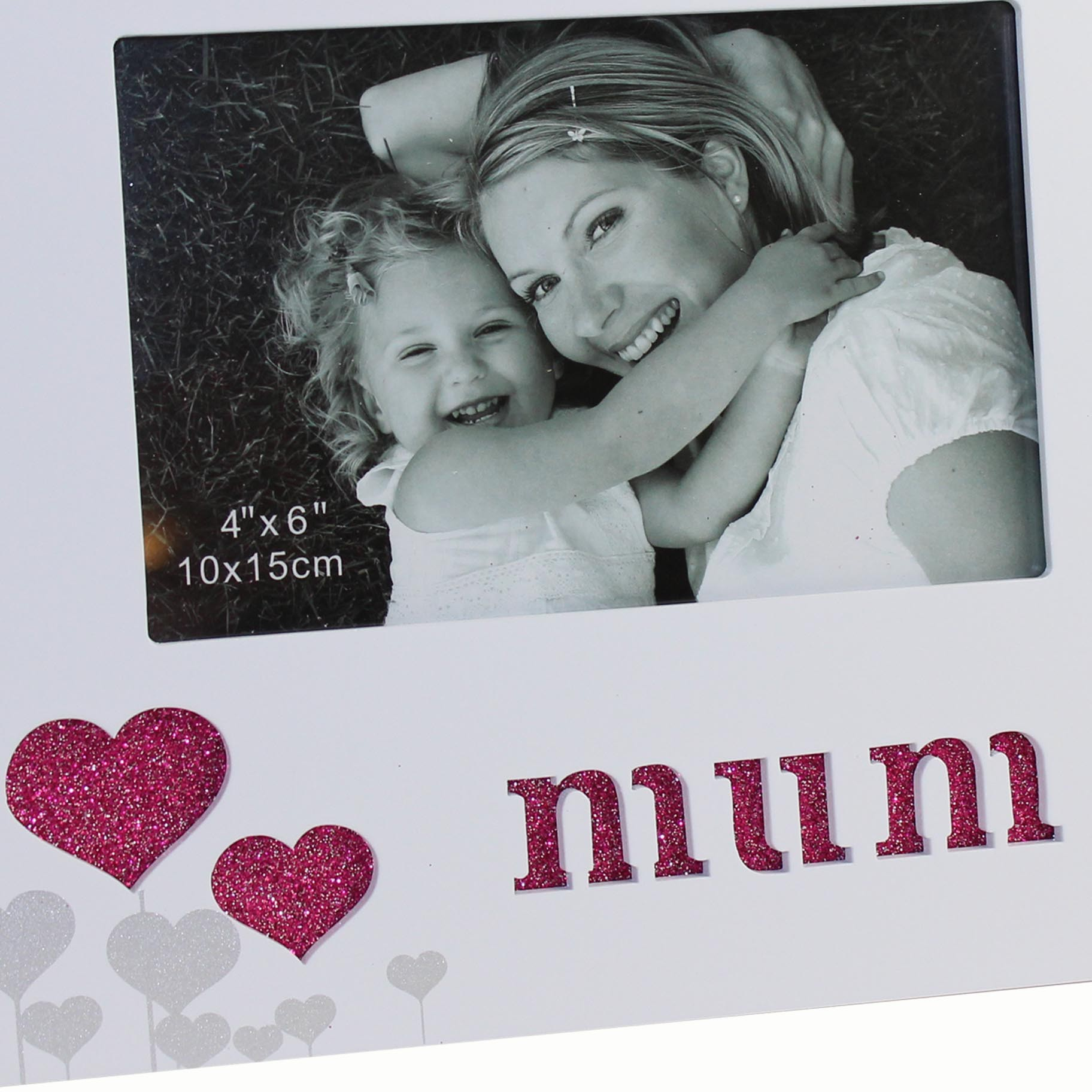 White and Pink Mum Photo frame - ideal for Mother\'s Day from Widdle Gifts