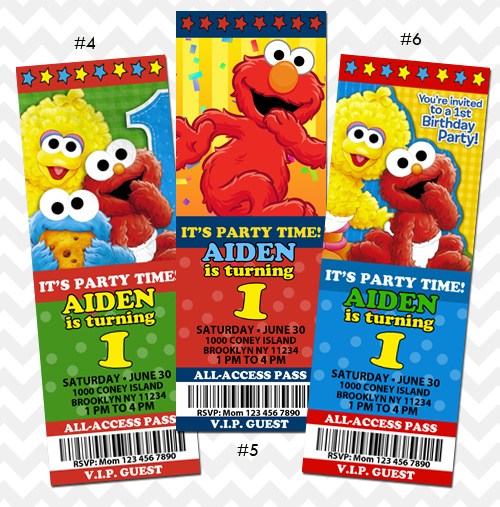 Elmo Invitations Birthday Invite