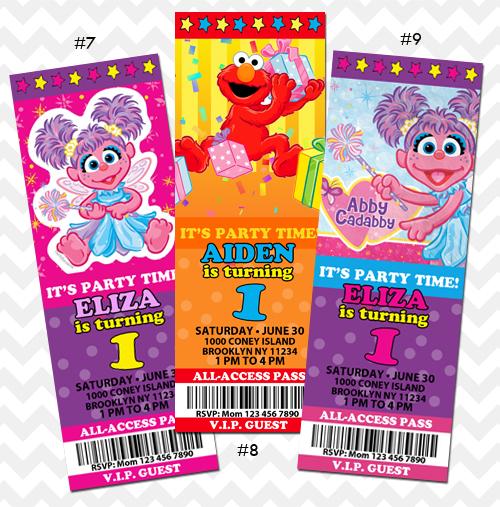 Elmo and Abby Cadabby Invitation on Storenvy – Abby Cadabby Birthday Invitations