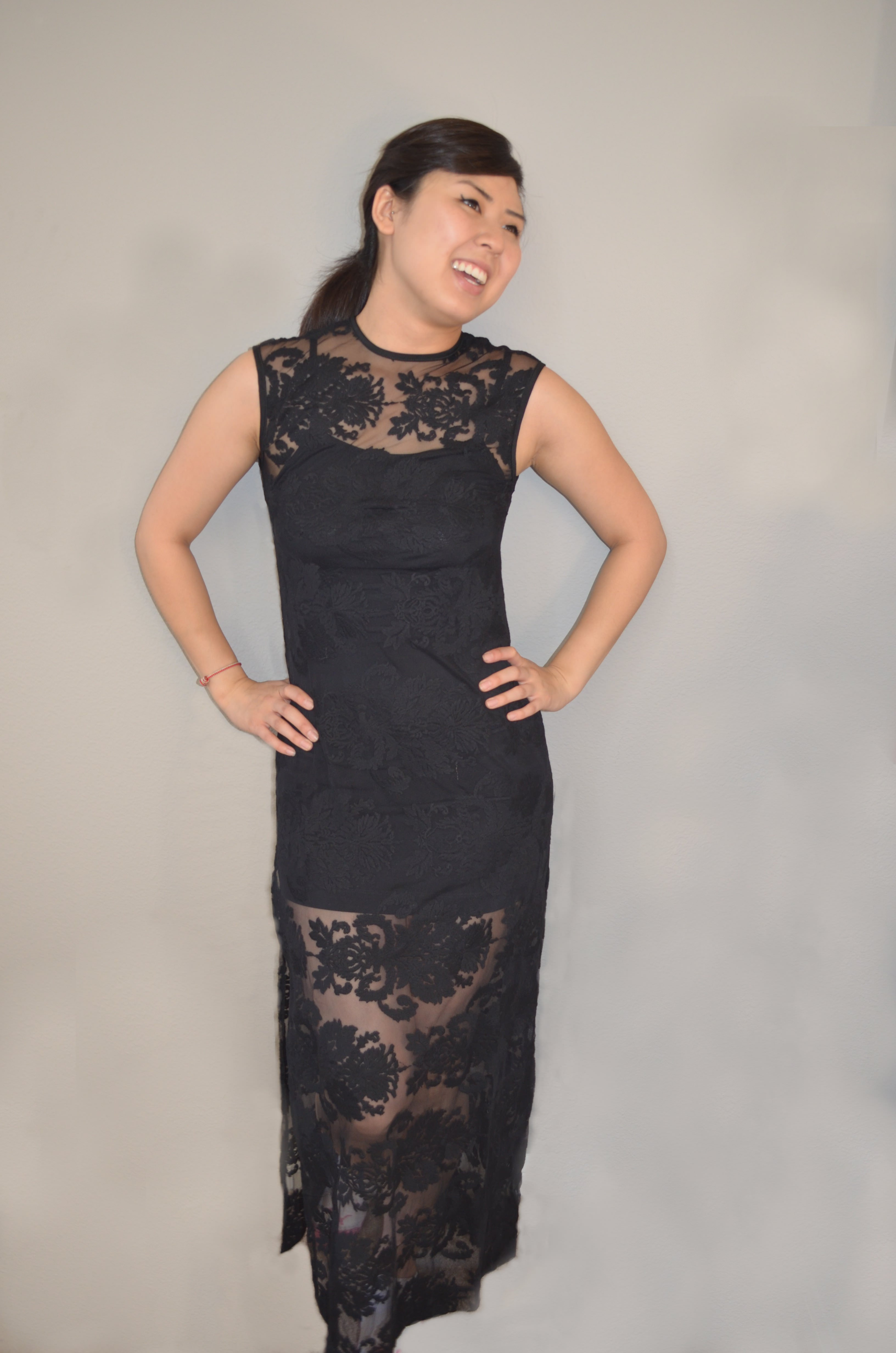 595bc6c39 Black lace maxi dress on Storenvy