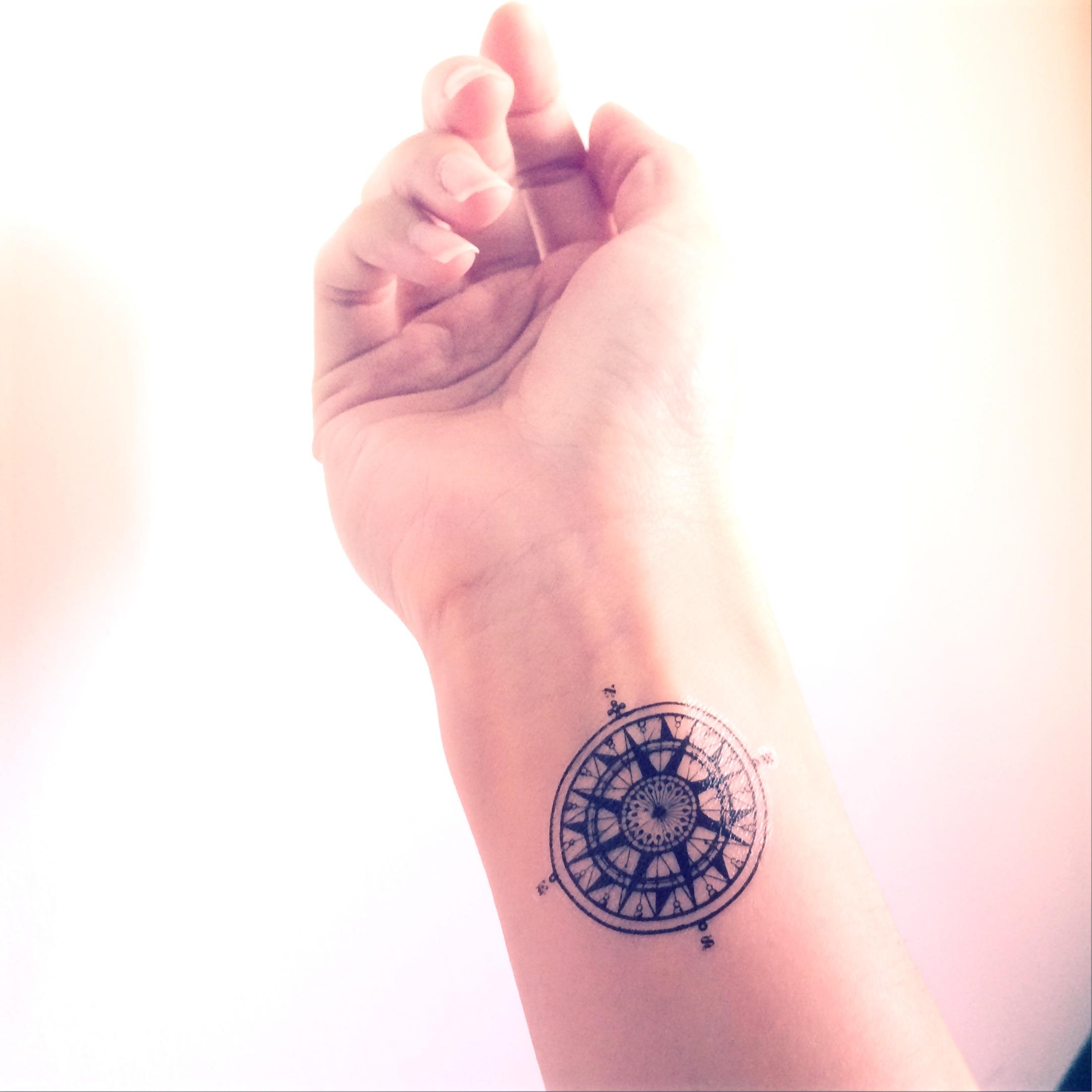 Tattoo Quotes Travel: 2pcs Vintage Compass Tattoo Travel