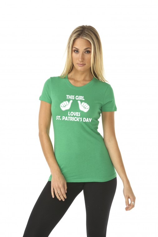42febbf73 Crazy Dog T-shirts | This Girl Loves St. Patrck's Day Shirt | Online ...