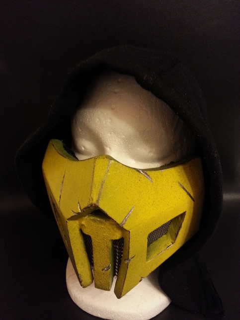 Scorpion Mortal Kombat Mask Metal Vents And Battle