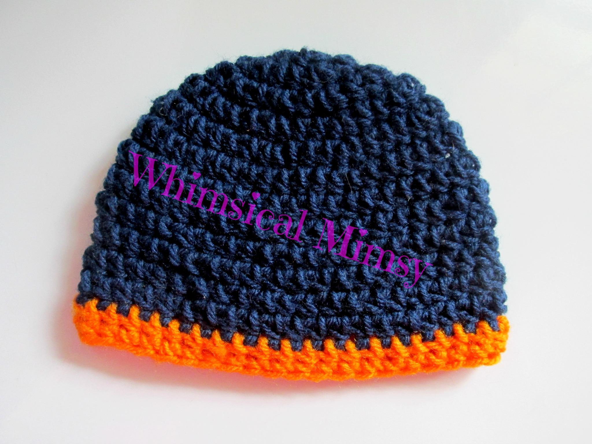 50b52e4d749 ... Crochet Auburn Football Inspired Newborn Hat and Diaper Cover Set Photo  Prop - Thumbnail 4