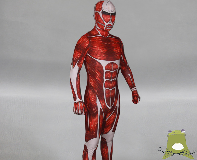 Attack on Titan Colossal Titan Zentai suit costume cosplay buy on ...